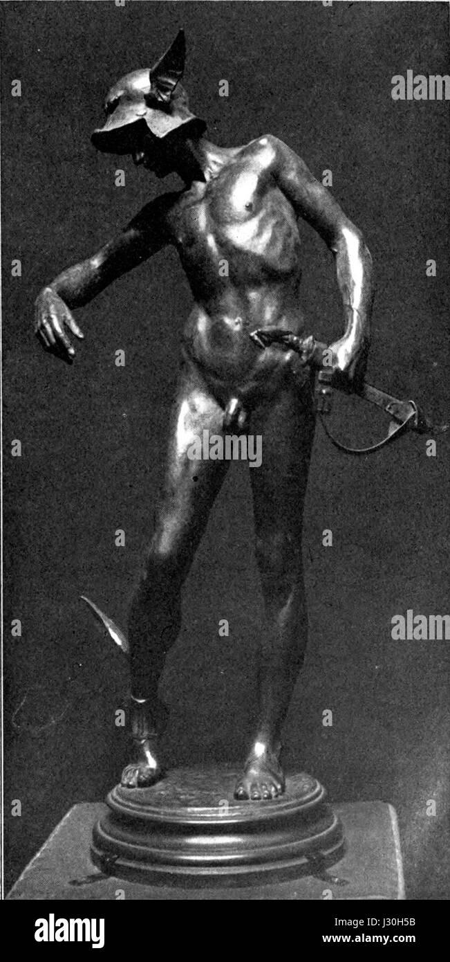 Alfred Gilbert - Perseus arming - Stock Image
