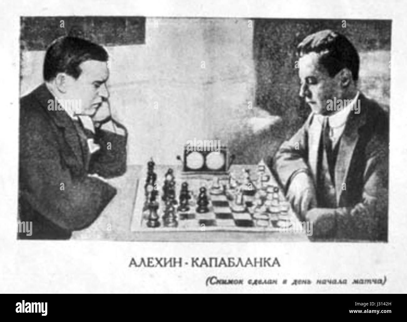 Alekhine Capablanca 1927 Stock Photo: 139552073 - Alamy