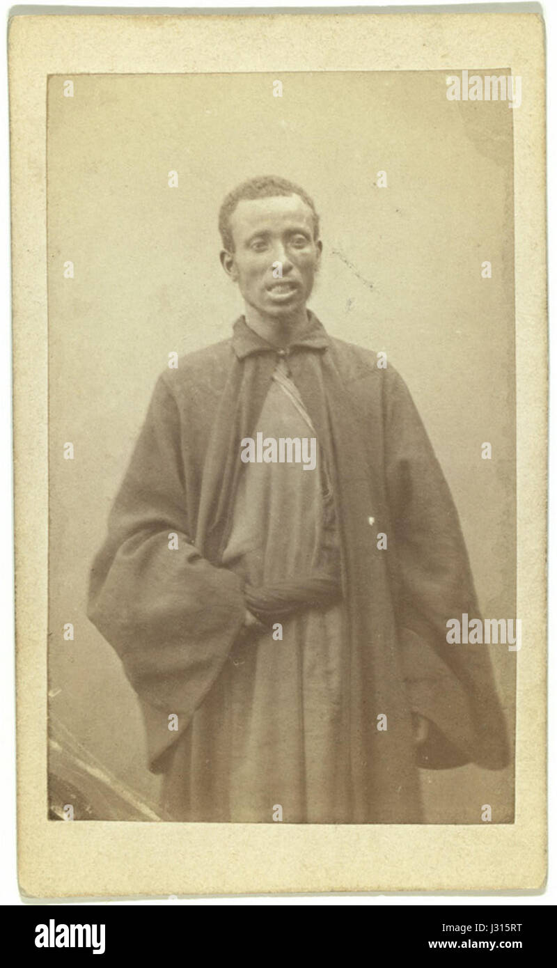 Arab from Jerusalem - Negro moolah. George Kennan. 1870-1886 - Stock Image