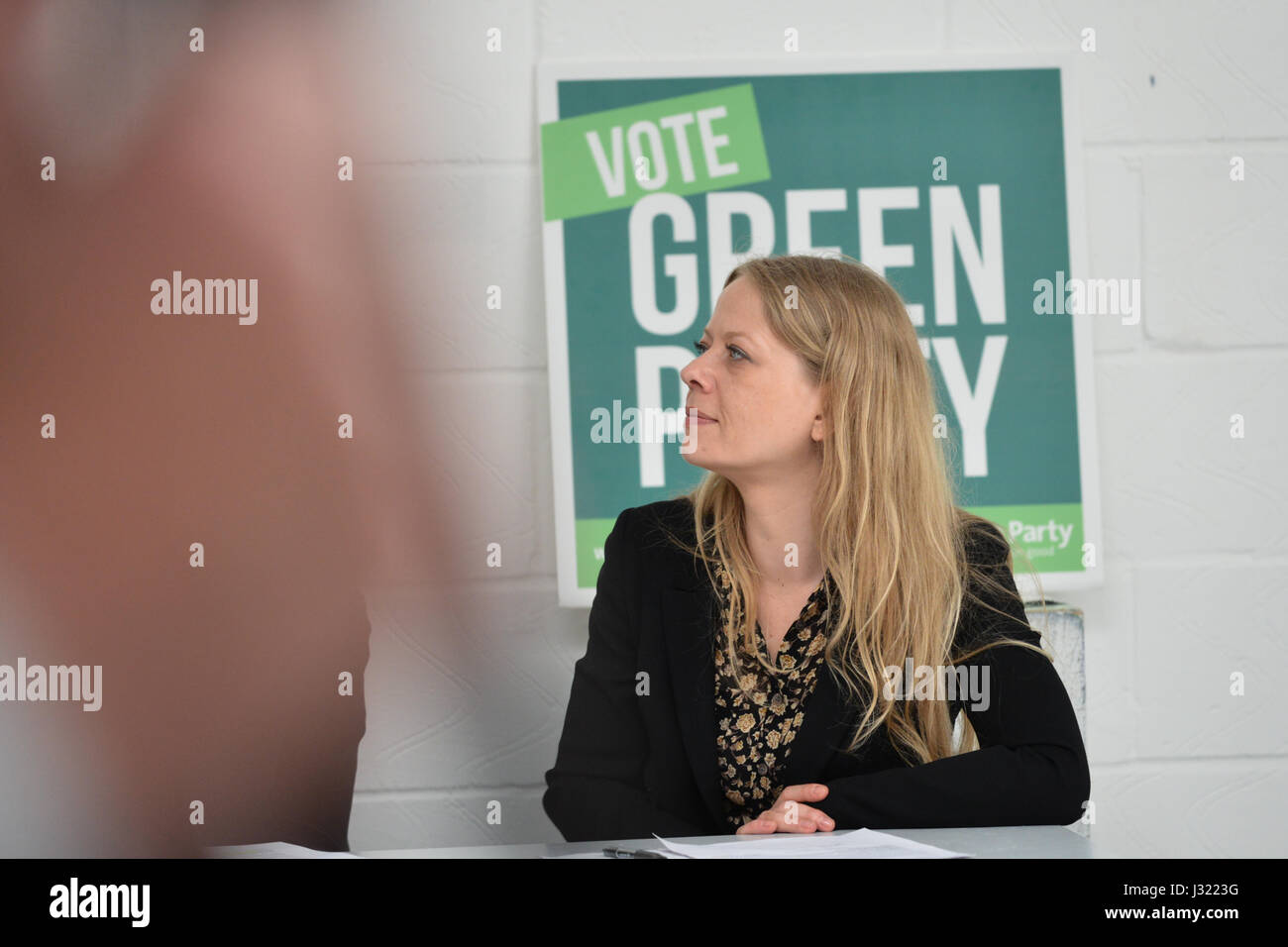 Space, Hackney, London, UK. 2nd May 2017. Sian Berry (London Assembly member). The Green Party launch their Brexit - Stock Image