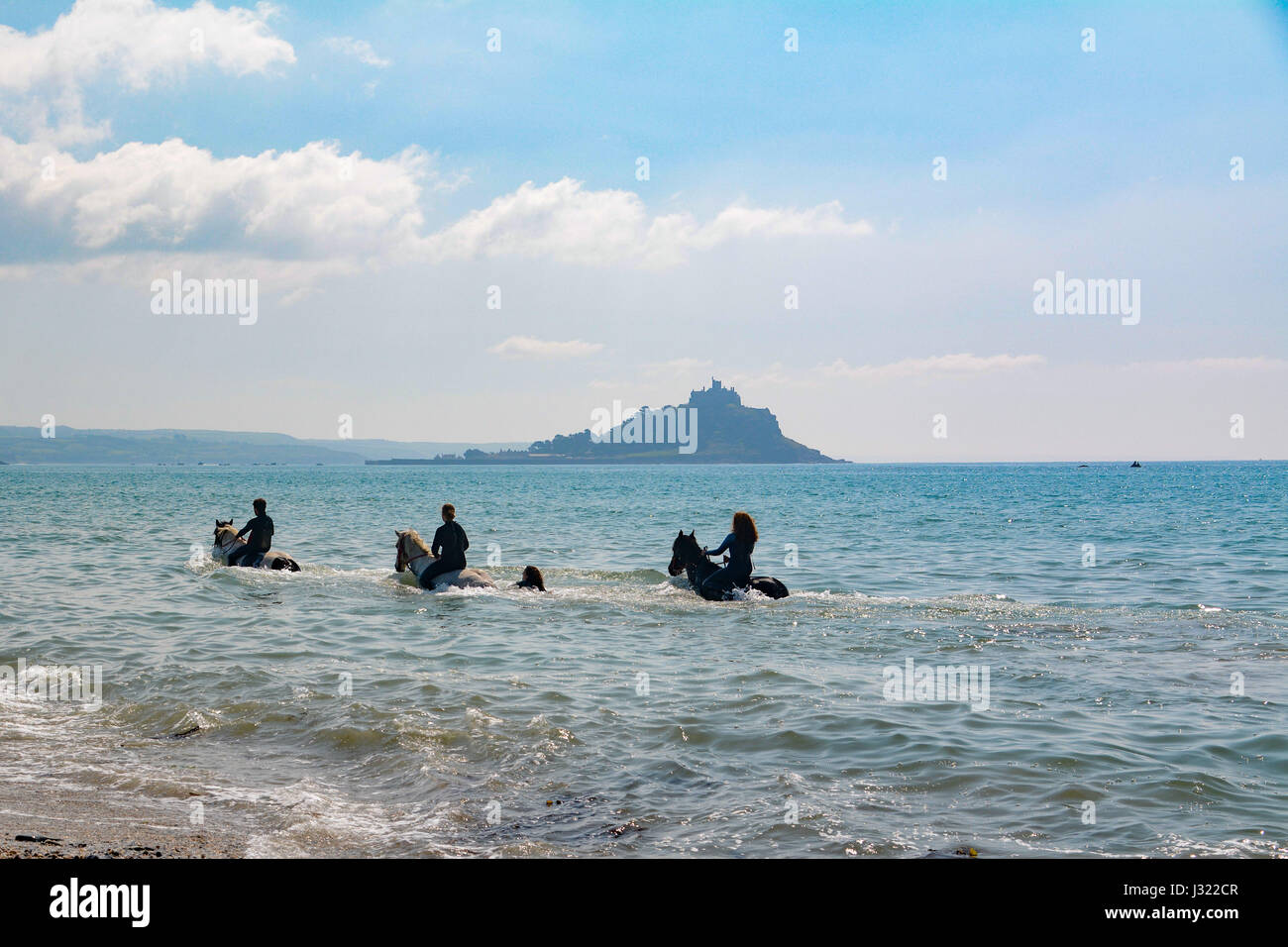 Swimming with horses stock photos swimming with horses stock images alamy for Appleby swimming pool timetable