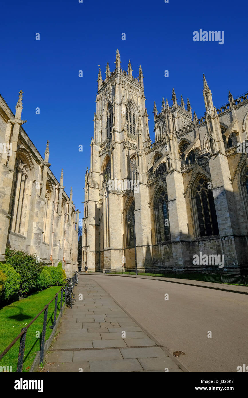 The exterior of York Minster - Stock Image
