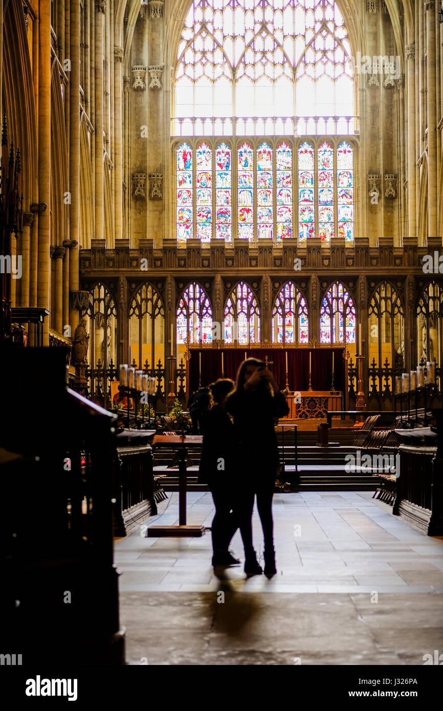Inside York Minster - Stock Image