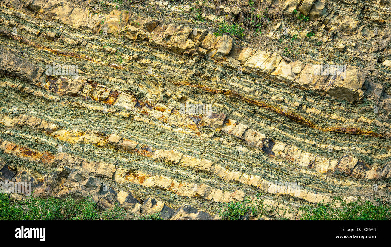 old geological material - Stock Image