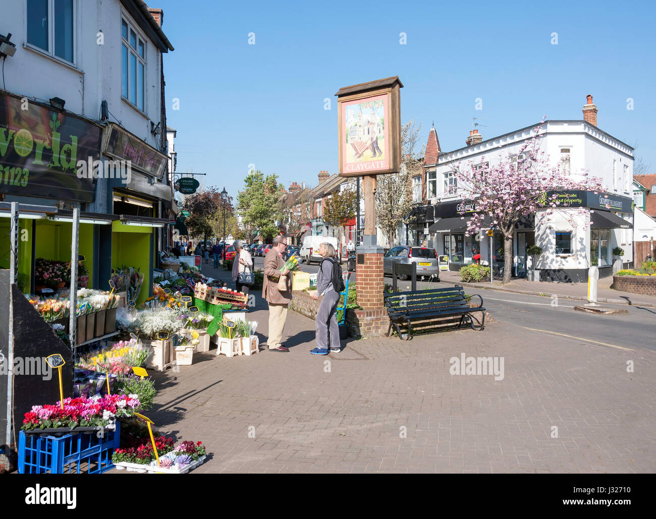 The Parade, Claygate, Surrey, England, United Kingdom - Stock Image