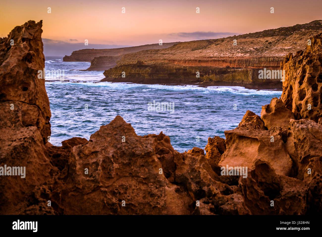 Cape Bauer at Eyre Peninsula, South Australia - Stock Image