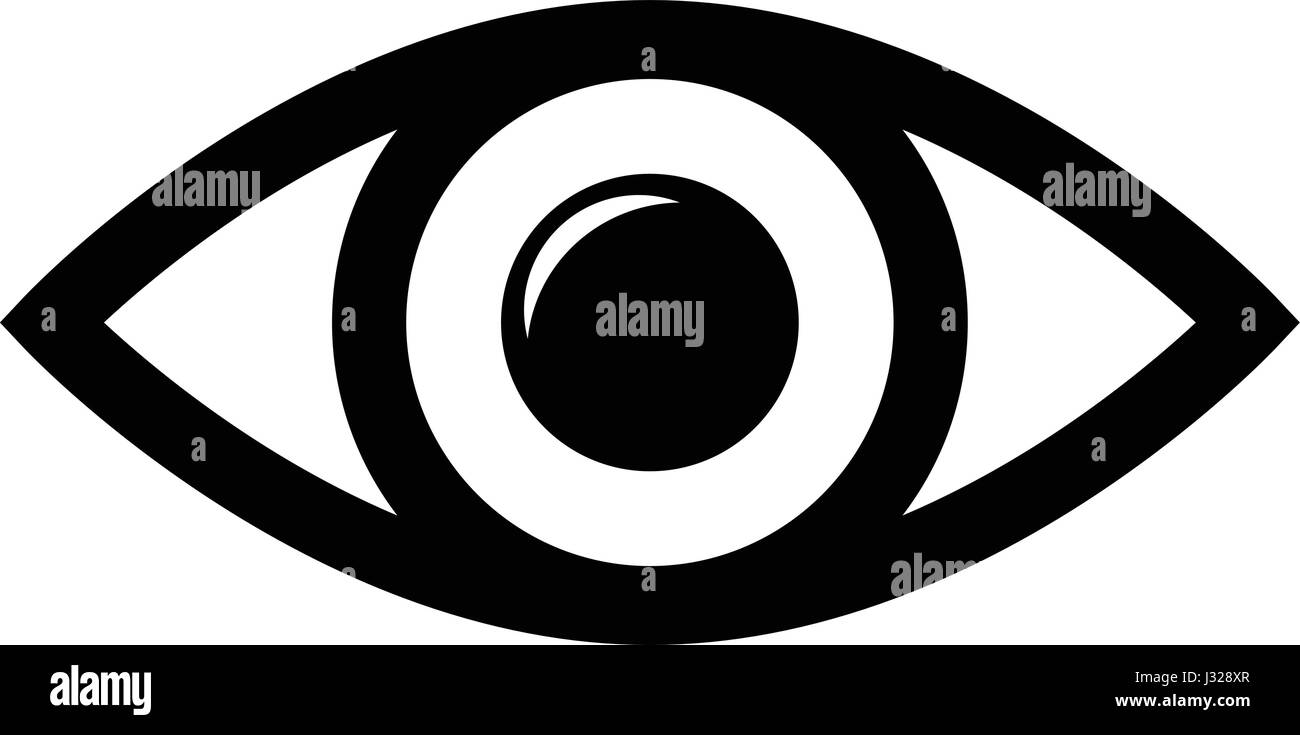 icon of the eye template for the logo on a white background stock