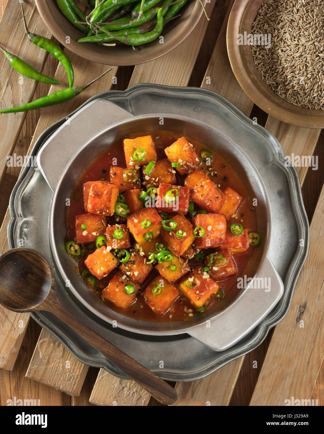 Chilli paneer spicy indo chinese starter india food stock photo chilli paneer spicy indo chinese starter india food forumfinder Image collections