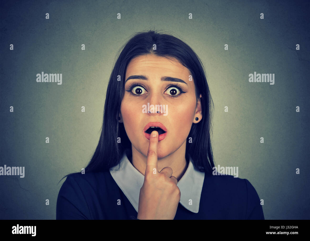 surprised girl - Stock Image