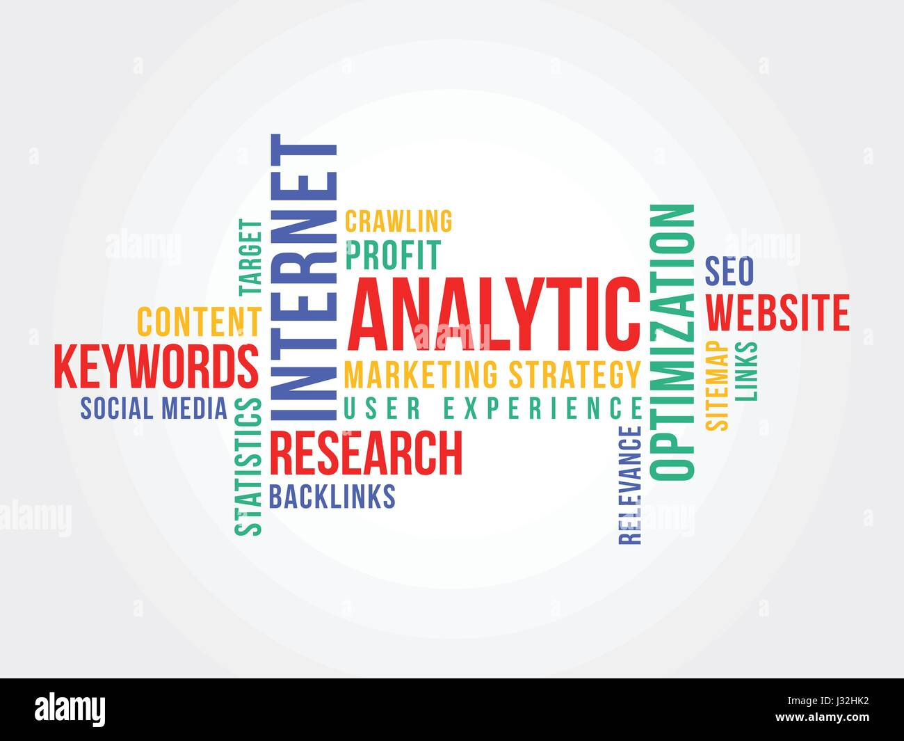 Online Marketing Strategy Word Cloud - Stock Image