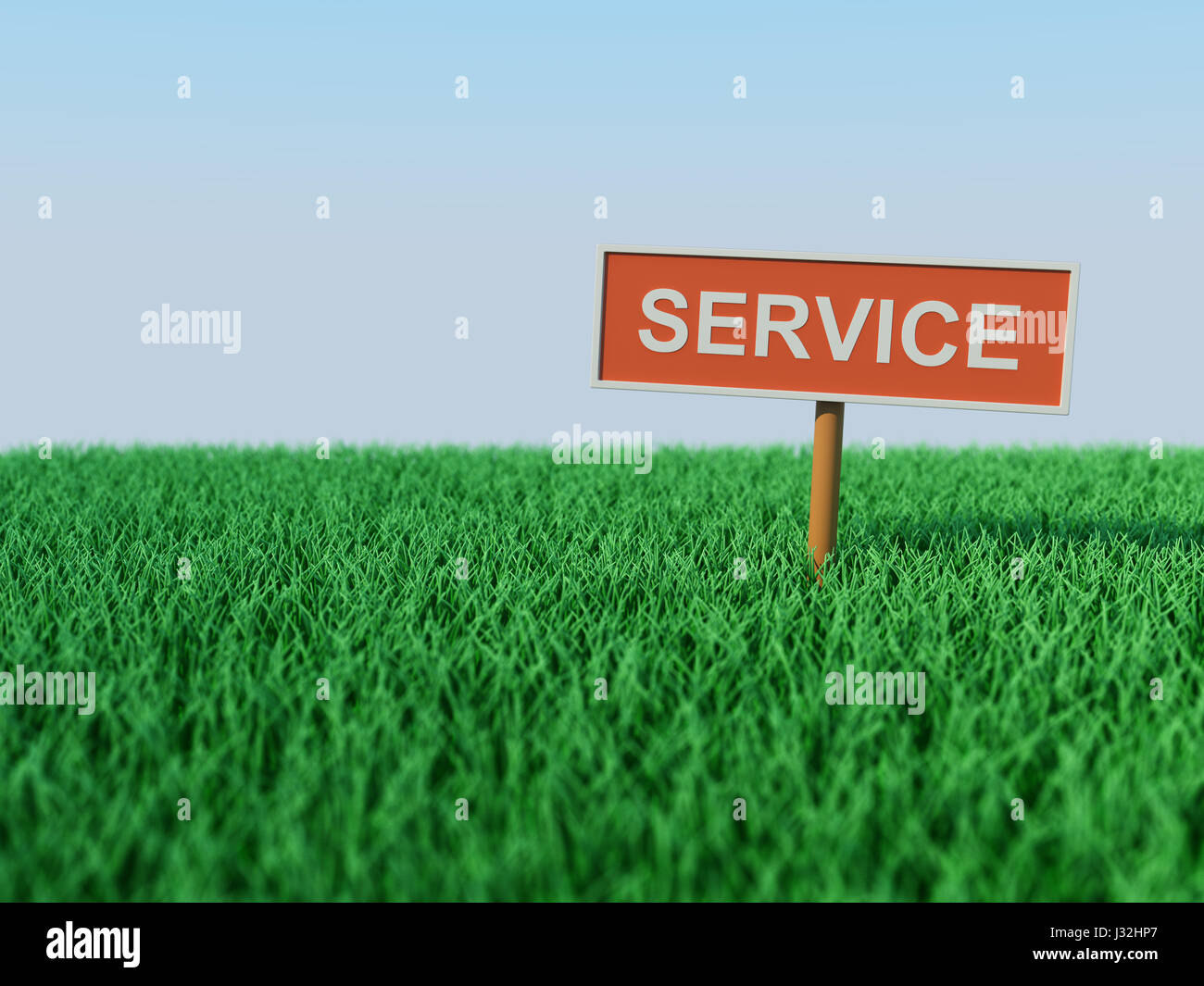 Service concept - 3D Rendered Image - Stock Image