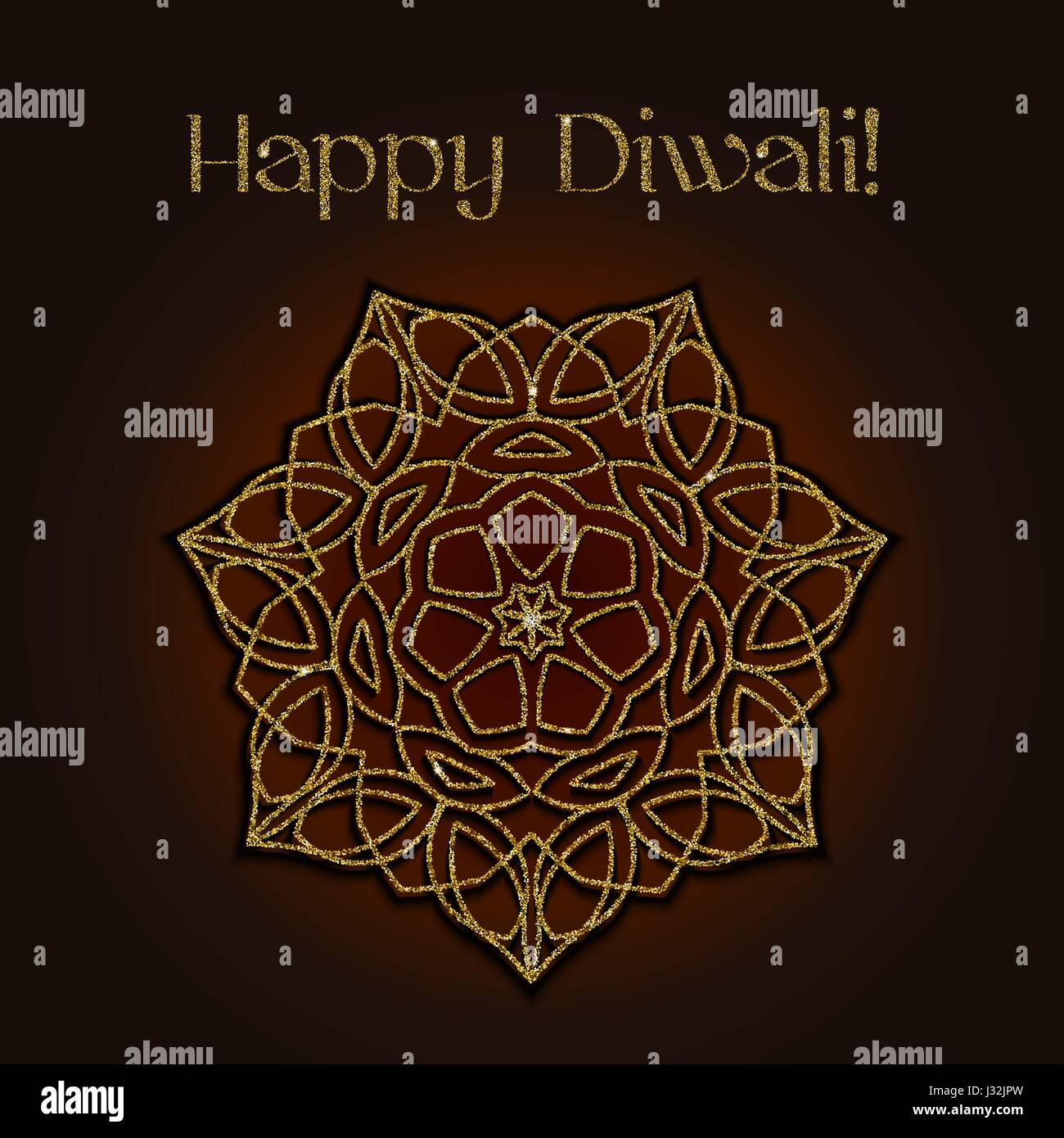 Diwali festival greeting card with gold glitter texture and mandala diwali festival greeting card with gold glitter texture and mandala m4hsunfo