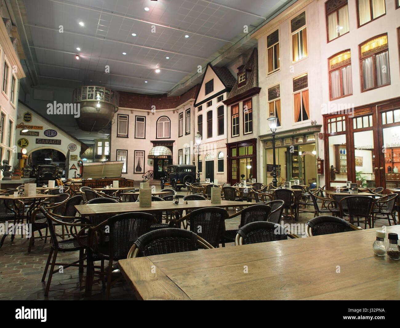 Restaurant of the Louwman museum Stock Photo