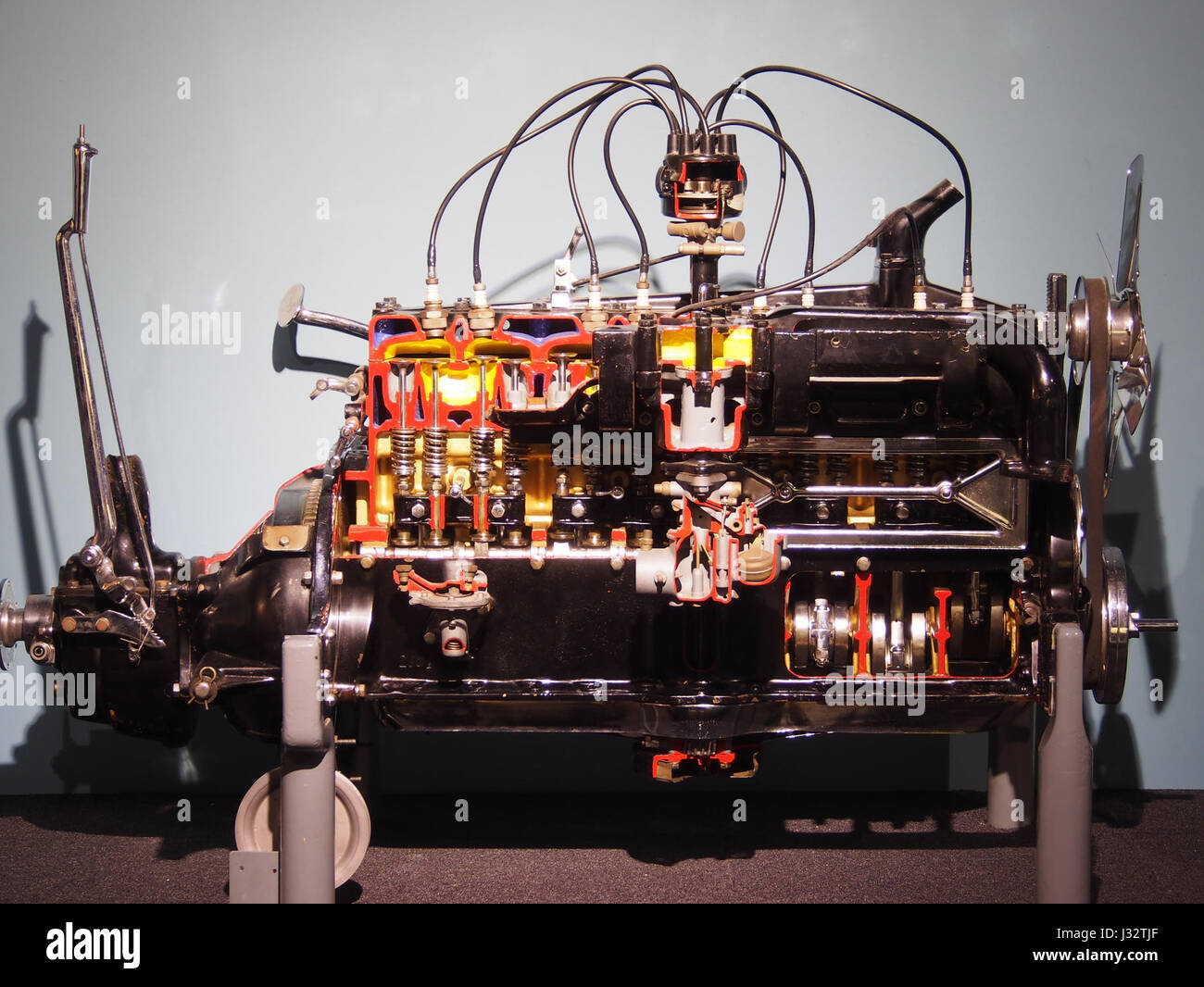 Car engine in the Louwman museum photo1 Stock Photo