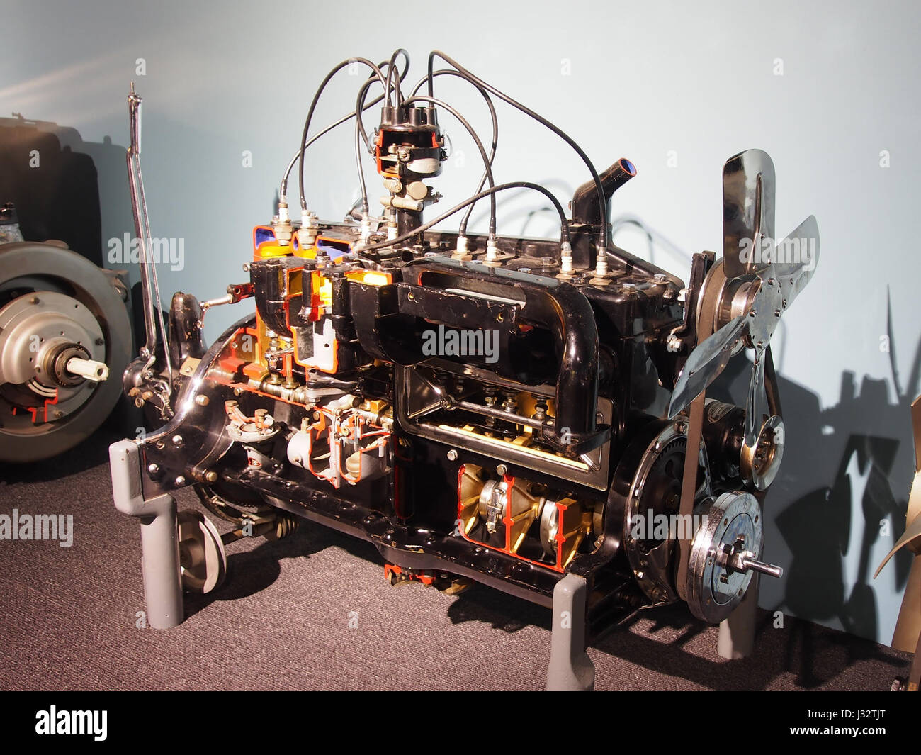 Car engine in the Louwman museum photo2 Stock Photo