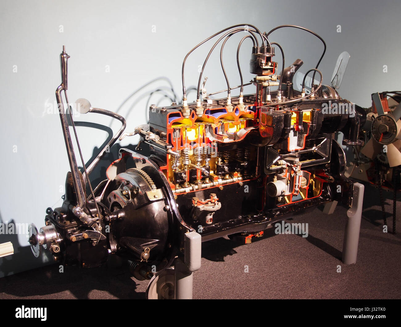 Car engine in the Louwman museum photo3 Stock Photo