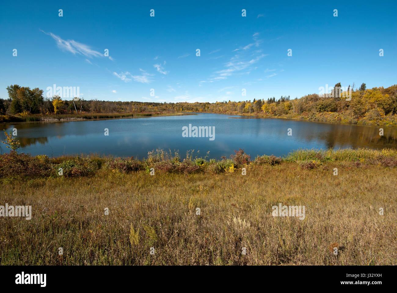 Marshs lake, Spruce Woods Provincial Park, Manitoba, Canada - Stock Image