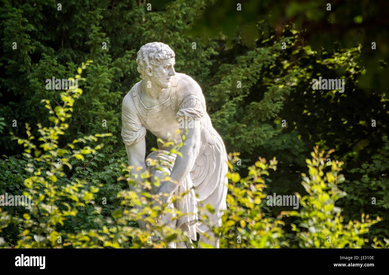 VIENNA, AUSTRIA, JULY 4, 2016: Antique Style Statue From Schonbrunn Palace Gardens, Vienna, Austria - Stock Image