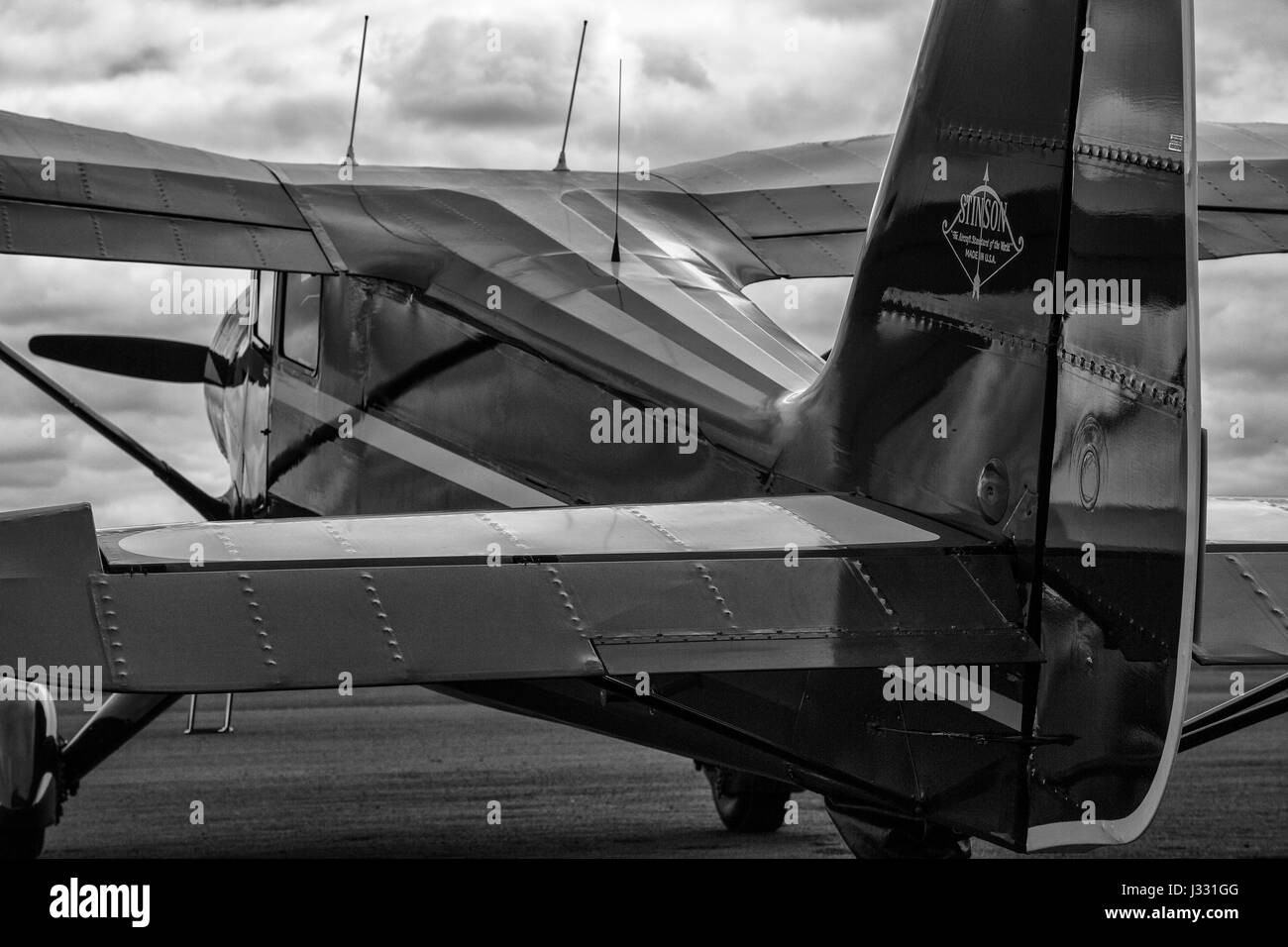 Stinson V-77 Reliant vintage aeroplane NC33543. Built in 1944. - Stock Image