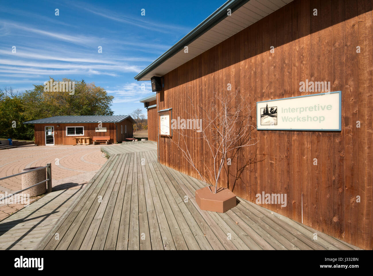 Visitor centre and bookshop at Spruce Woods Provincial Park, Manitoba, Canada - Stock Image