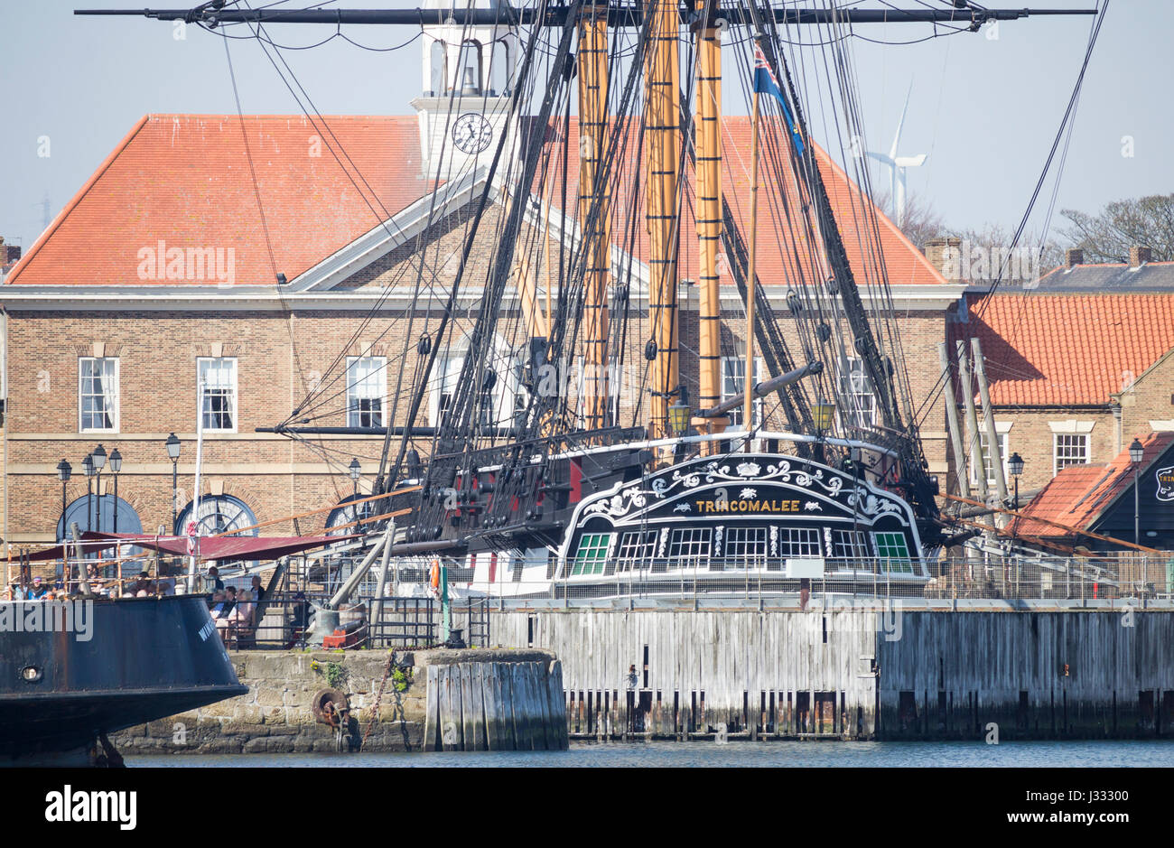 HMS Trincomalee, the oldest warship still afloat at National Museum of The Royal Navy in Hartlepool, England. UK - Stock Image