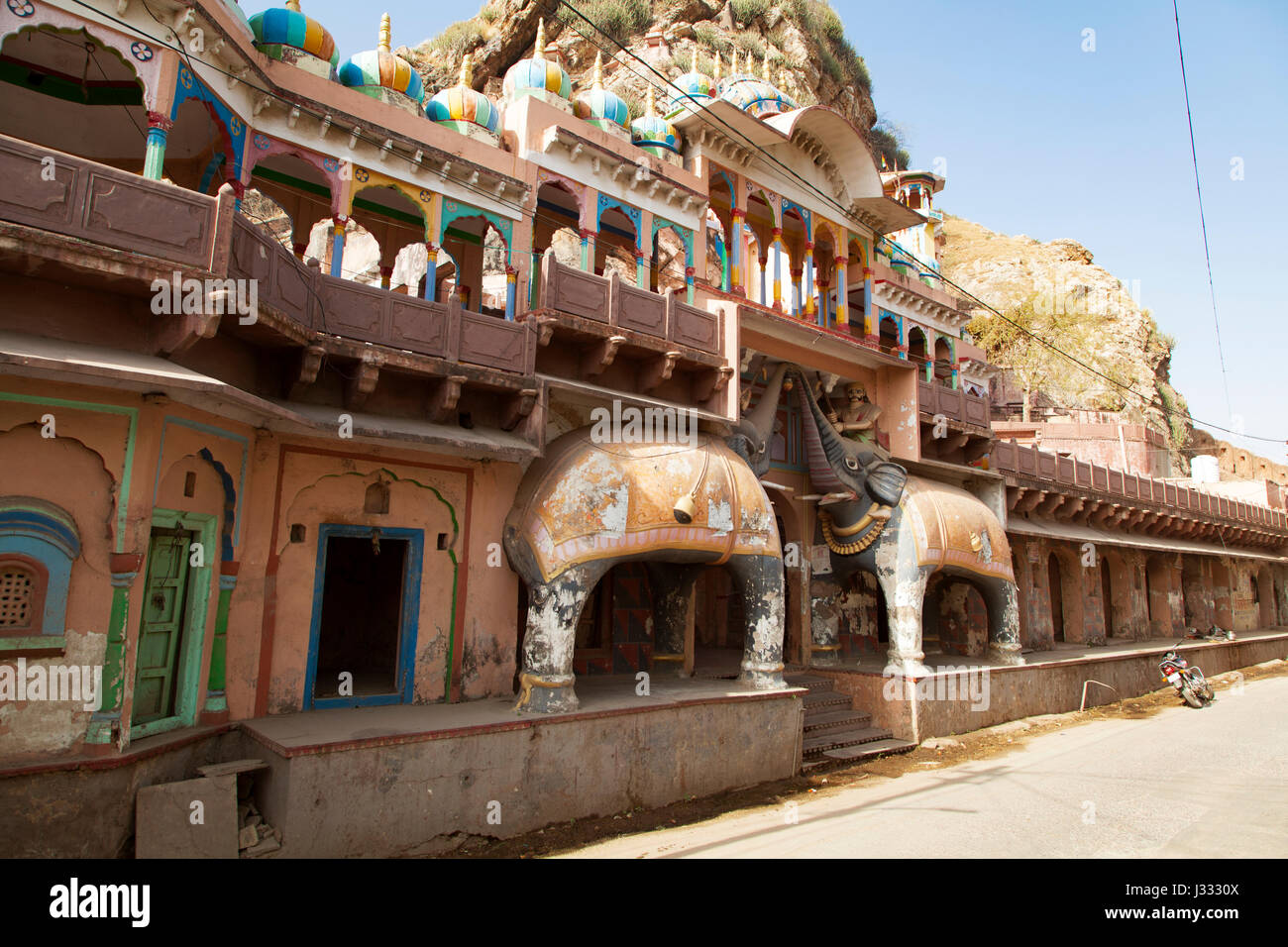 The Kala Gaura Bhairav Temple is one of the famous and unique temples at Sawai Madhopur city in Rajasthan, India. - Stock Image