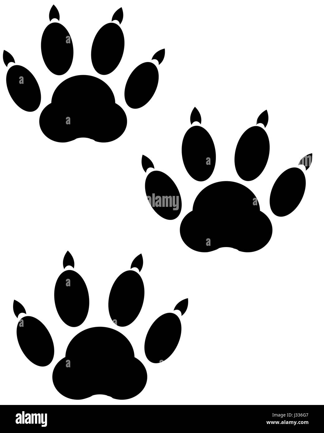 Trace animal on white - Stock Image
