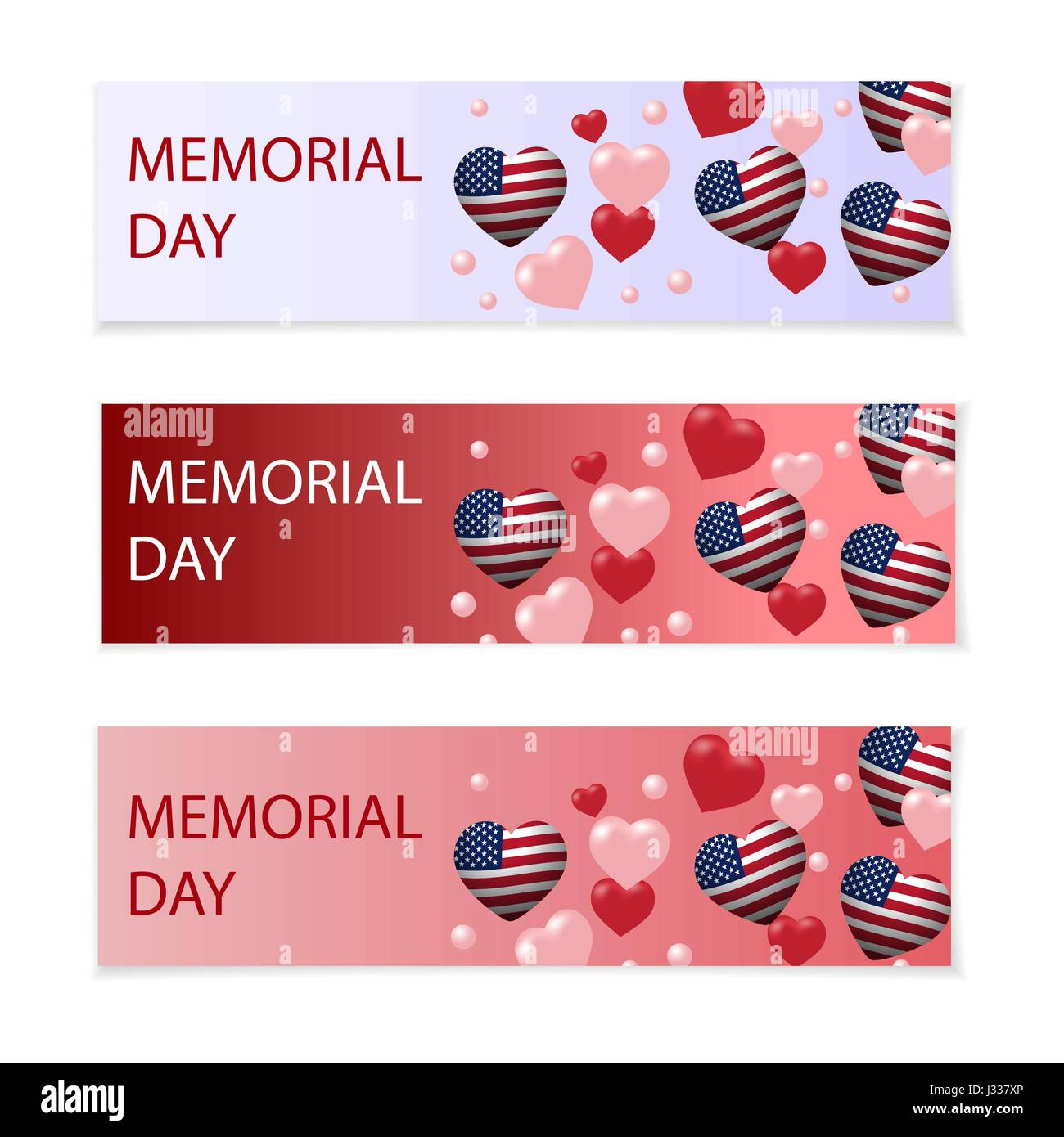 Day of Remembrance. Illustration in honor of the national US holiday with a heart in the USA flag style. Holiday Stock Vector