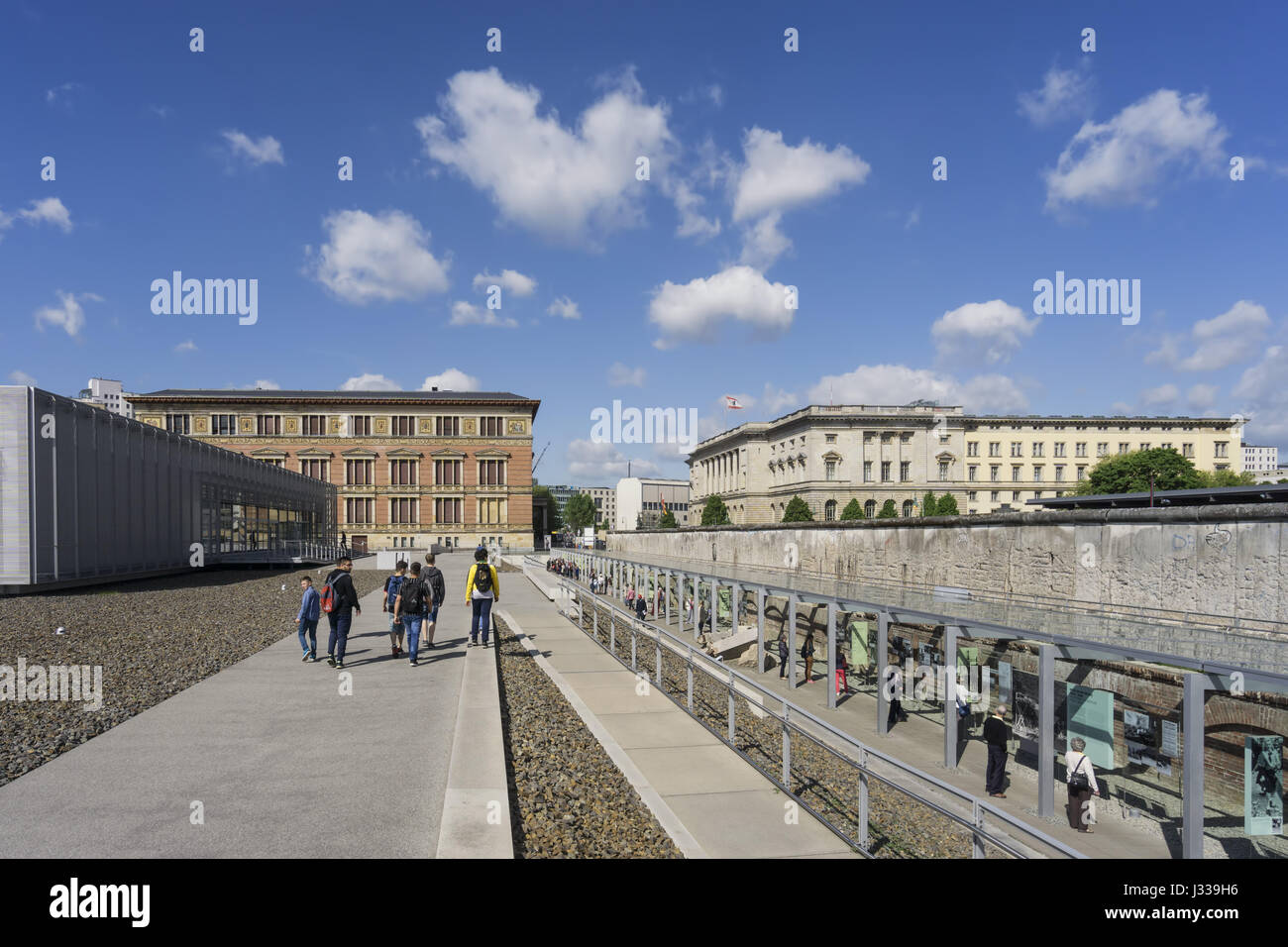 Topography of Terror, Documentation Center of Nazi Terror with parts of the Berlin Wall, Berlin, Germany - Stock Image