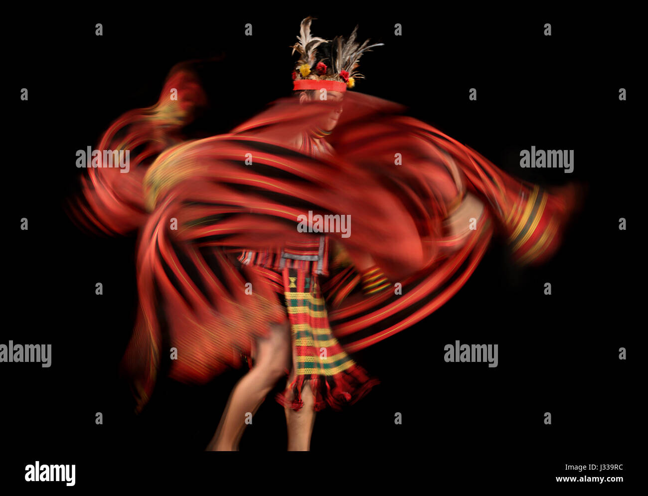 Dance performance and movement to music, Ifugao, Banaue, Banawe, Philippines, Asia - Stock Image
