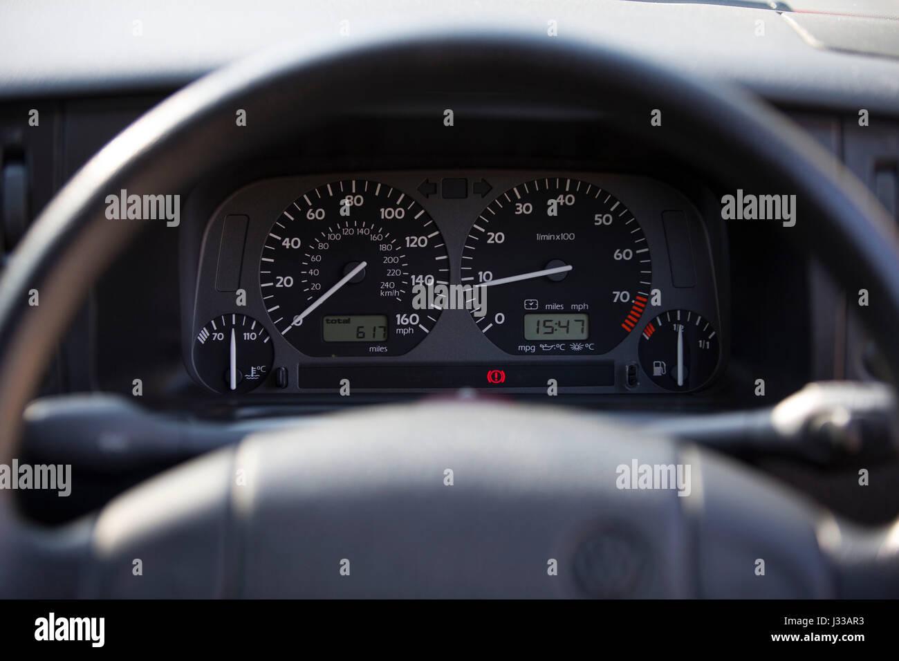 PHOTO:JEFF GILBERT. 05.04.2017 Longcross Testing Circuit, Chobham Race Track, Surrey, England. Volkswagen Golf GTi - Stock Image