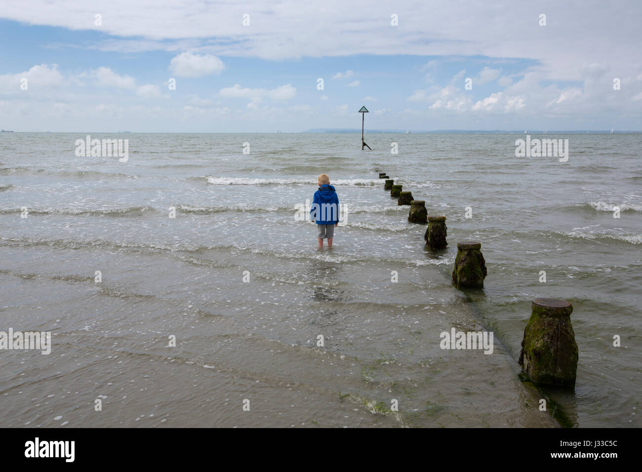 Unspoilt sandy beach of West Wittering on the Manhood Peninsula in the Chichester district of West Sussex, England - Stock Image