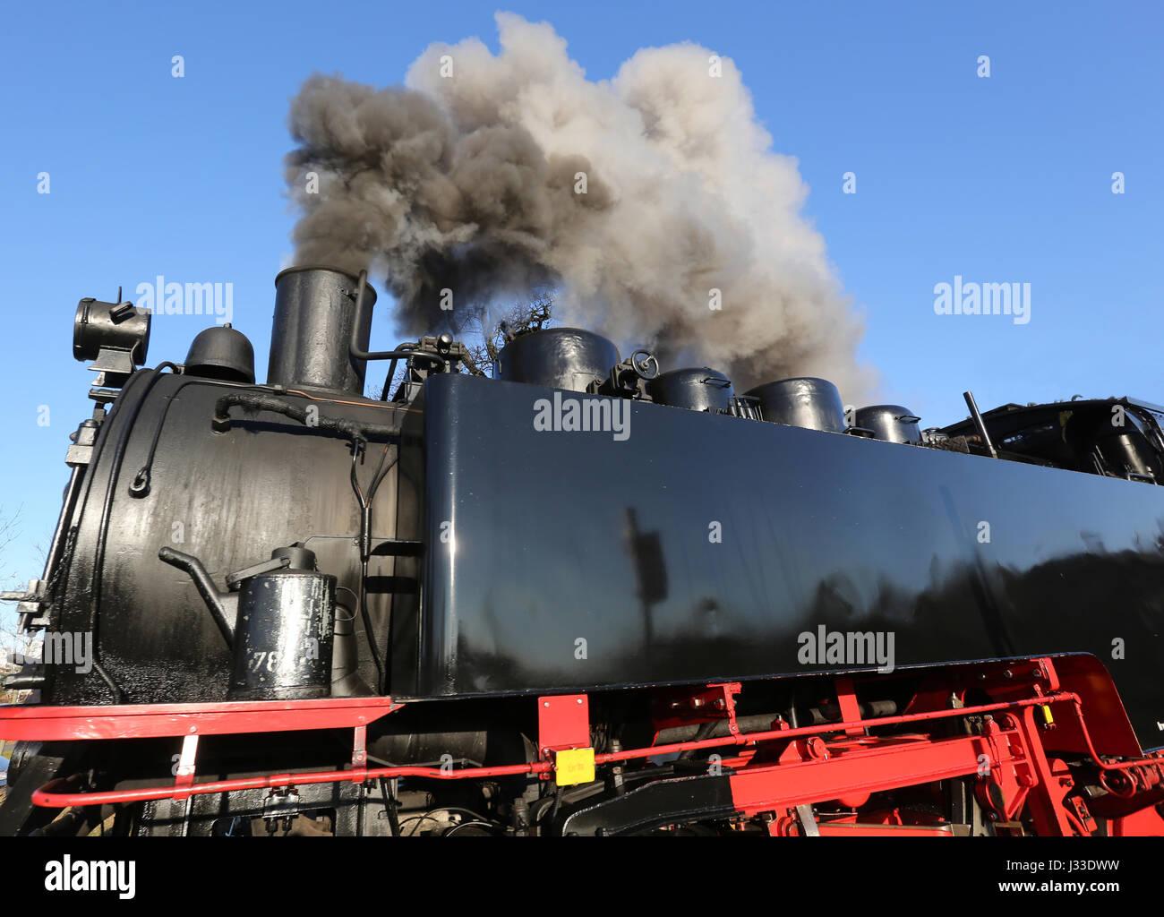 Germany, Rügen, Steam Railway Rasender Roland, Insel Rügen, Deutschland, - Stock Image
