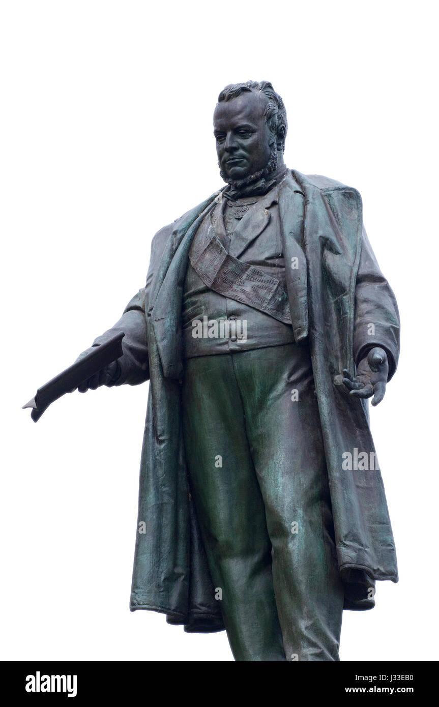 Italy, Lombardy, Milan, Piazza Cavour Square, Monument to Camillo Benso Conte di Cavour - Stock Image