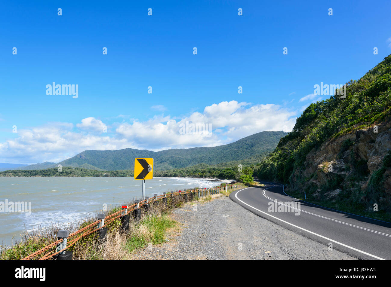 Captain Cook Highway is the scenic coastal road between Cairns and Port Douglas, Far North Queensland, FNQ, QLD, Stock Photo