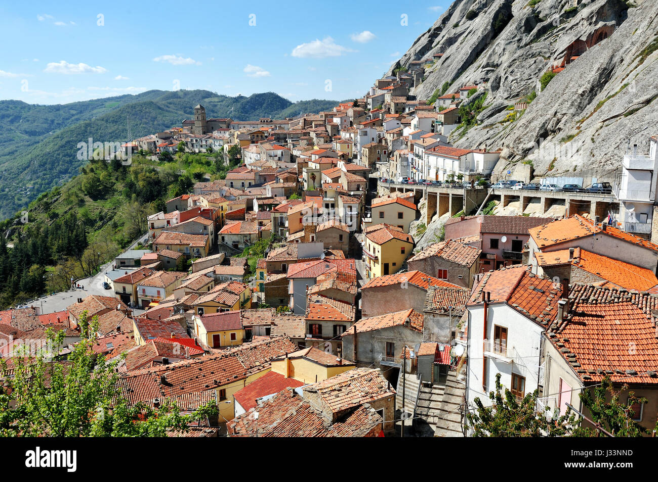Destination Italy - the village of Pietrapertosa near Potenza in Basilicata dolomites mountains Stock Photo