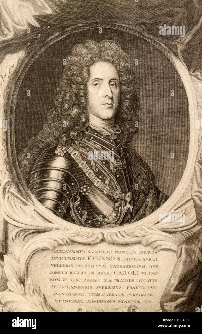 Prince Eugene of Savoy - Stock Image