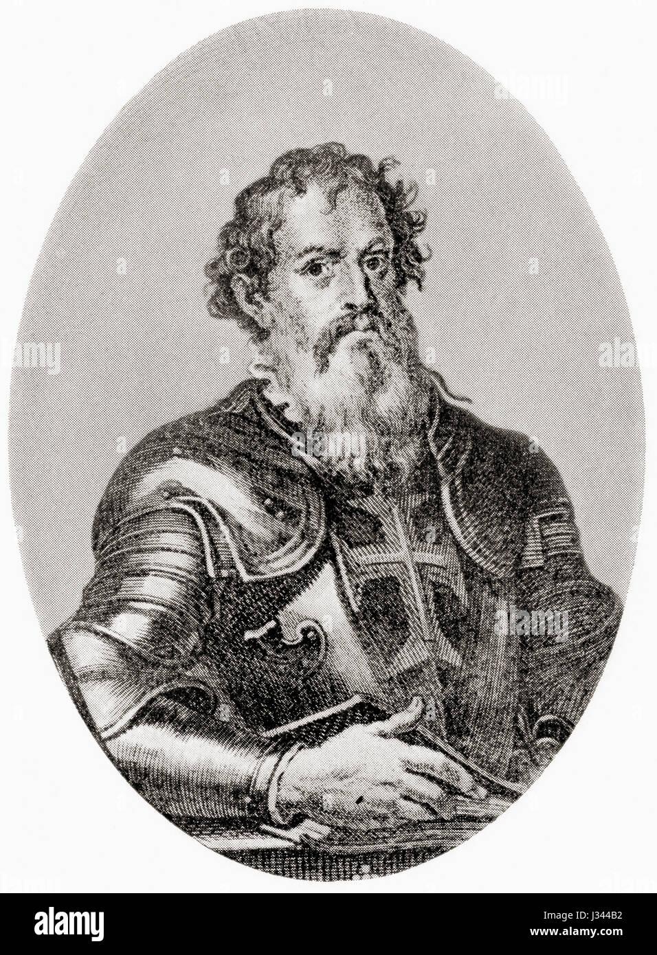 Infante D. Henrique of Portugal, Duke of Viseu, aka Prince Henry the Navigator, 1394 - 1460. Son of King João - Stock Image