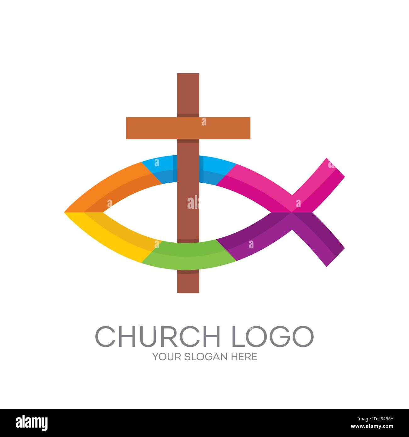 Church Logo Christian Symbols The Cross Of Jesus And The Christian