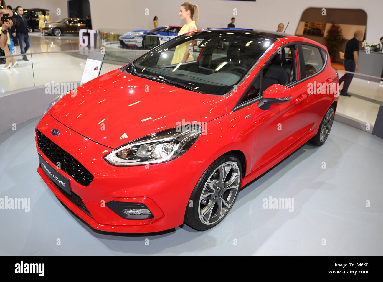 istanbul turkey april 22 2017 ford fiesta st line on display at stock photo 139620174 alamy. Black Bedroom Furniture Sets. Home Design Ideas