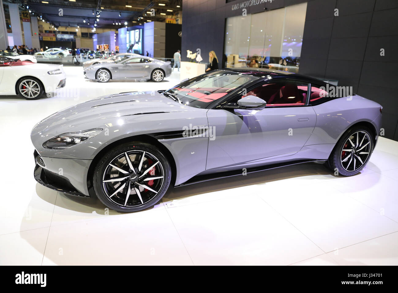 ISTANBUL, TURKEY - APRIL 22, 2017: Aston Martin DB11 on display at Autoshow Istanbul - Stock Image