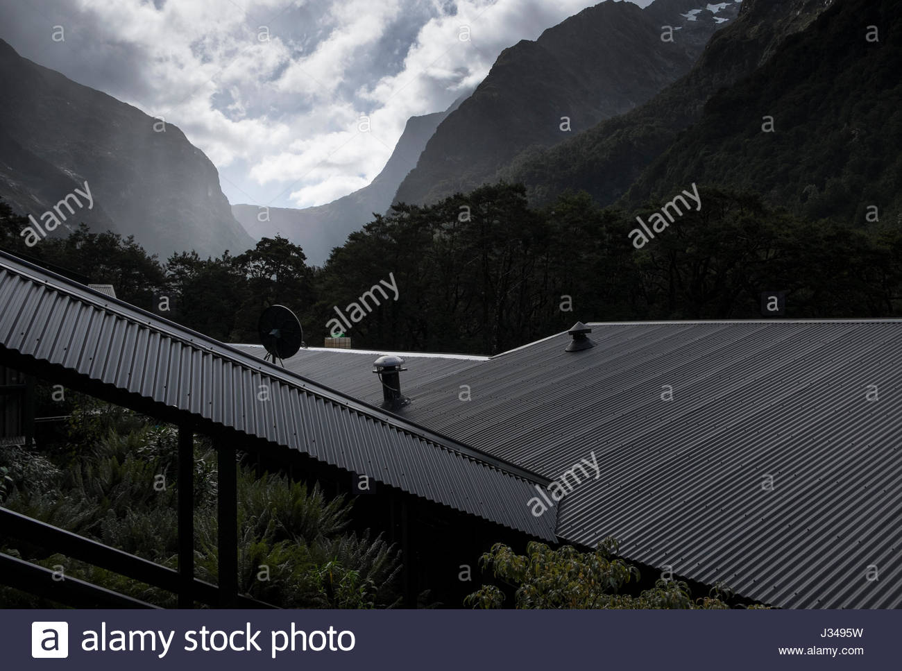 Mackinnon Pass Seen From Pompolona Lodge Milford Track
