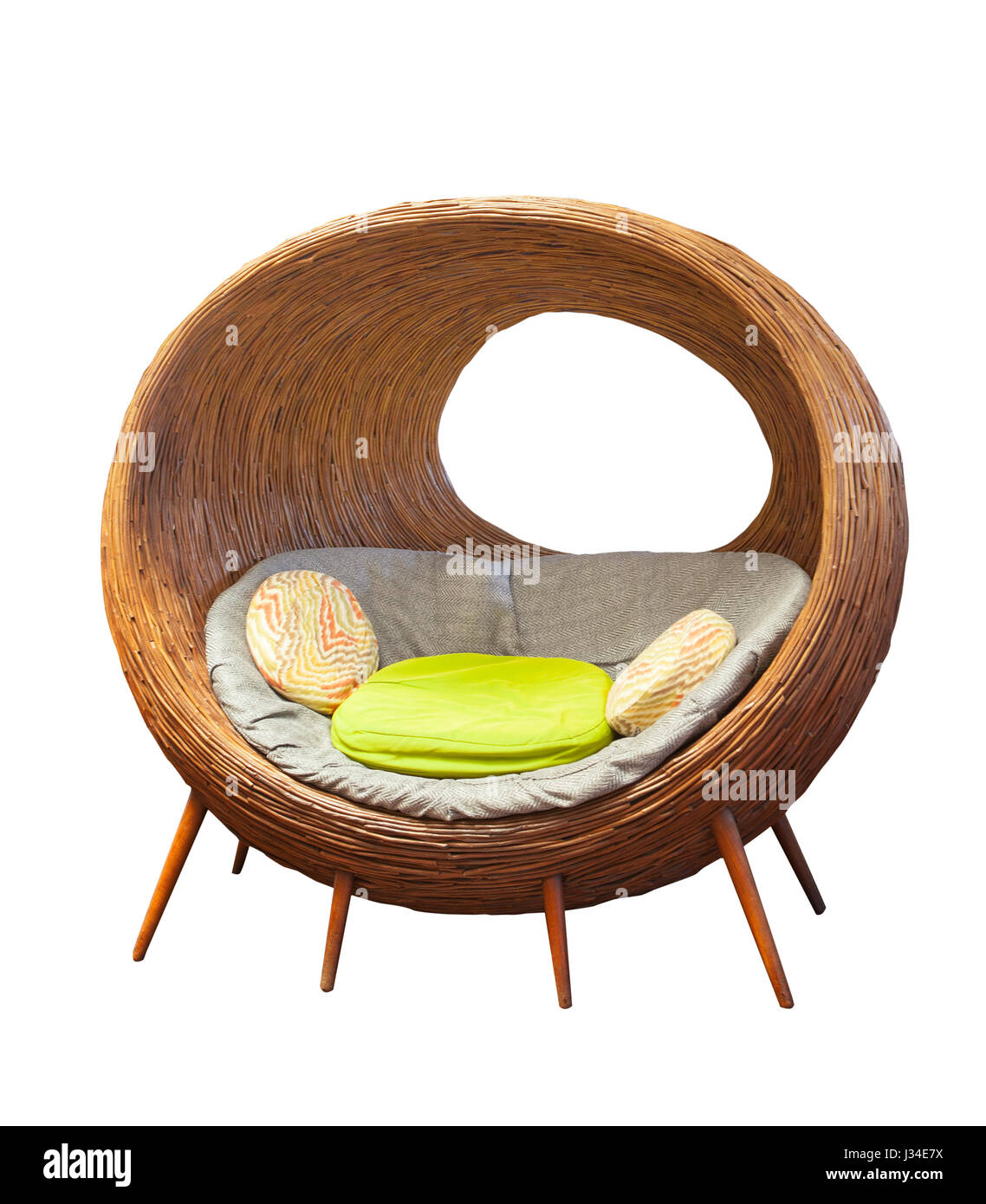 Superb Rattan Round Wicker Patio Chairs For Home Living Room Download Free Architecture Designs Photstoregrimeyleaguecom