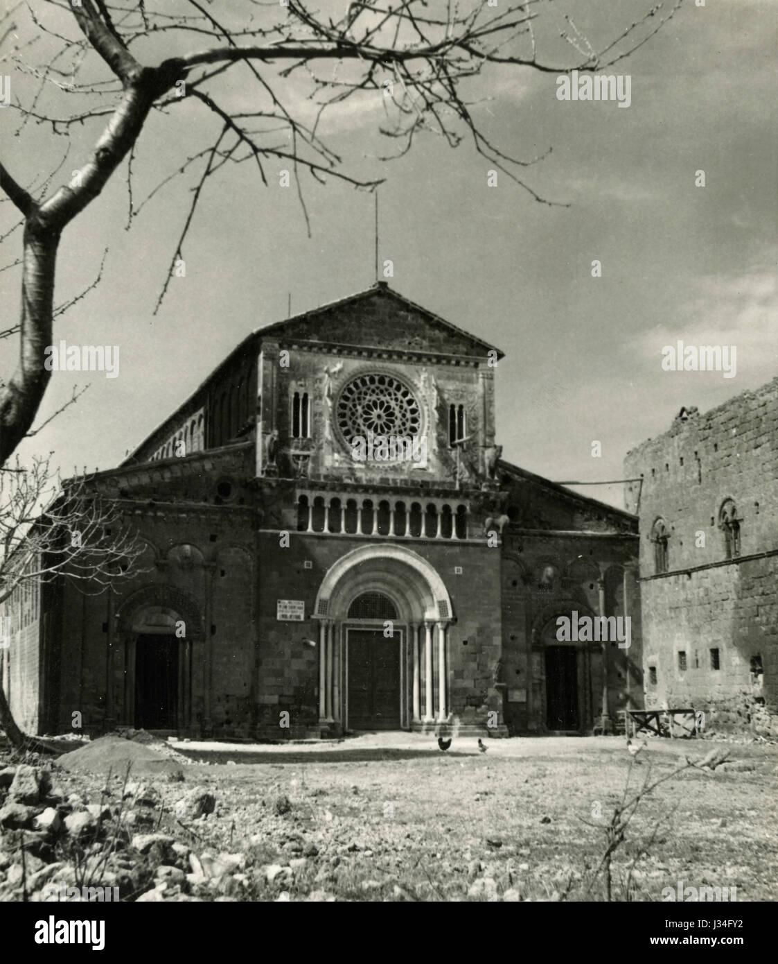 St. Peter's church, Tuscania, Italy - Stock Image