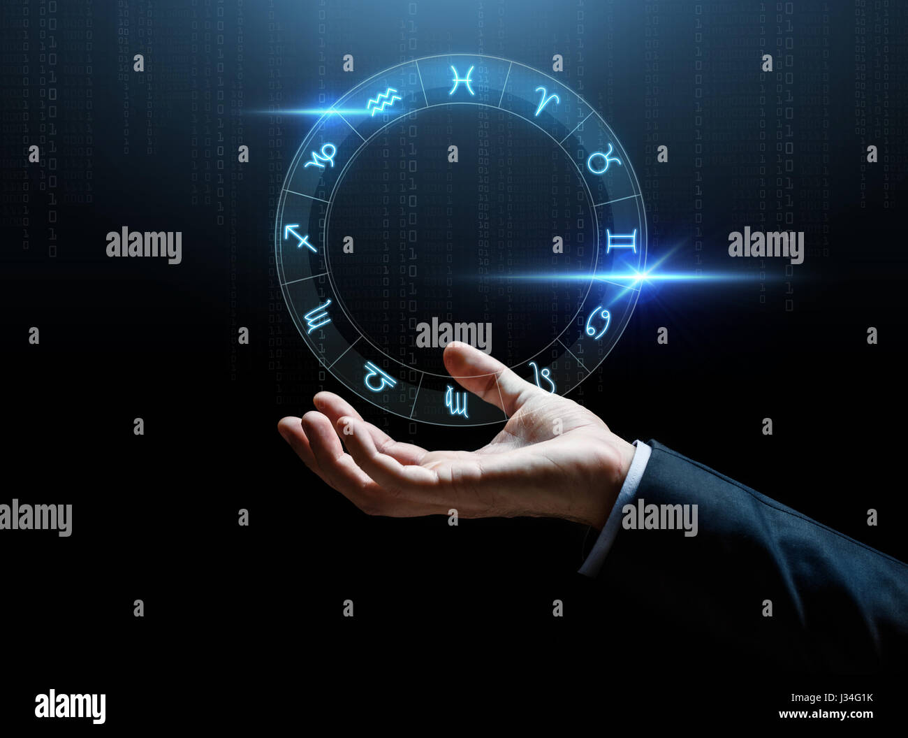Horoscope diagram stock photos horoscope diagram stock images alamy close up of businessman hand with signs of zodiac stock image ccuart Gallery