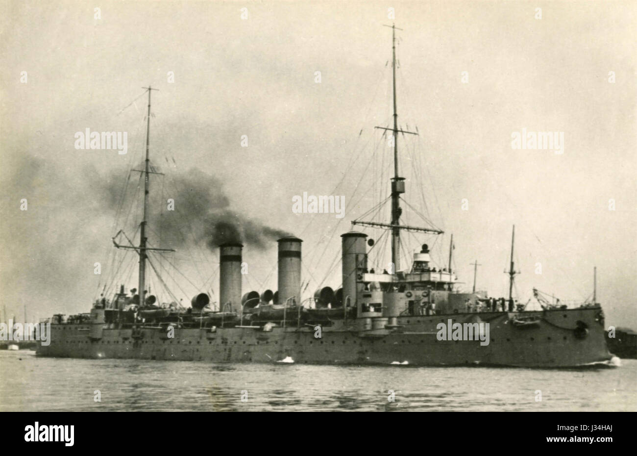 Russian Cruiser Oleg, 1918 - Stock Image