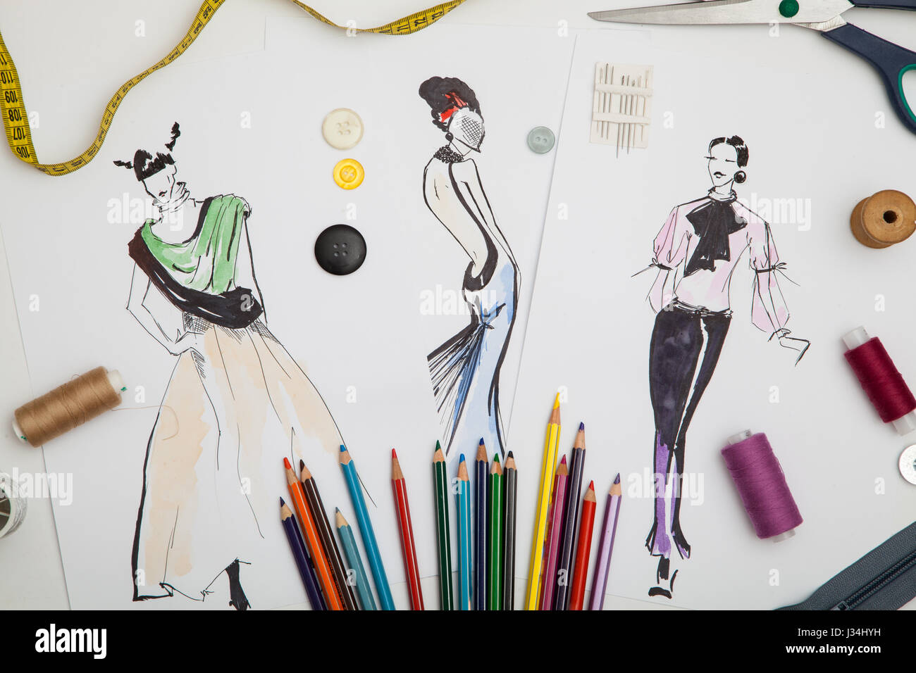 Fashion Designer Background Stock Photo Alamy