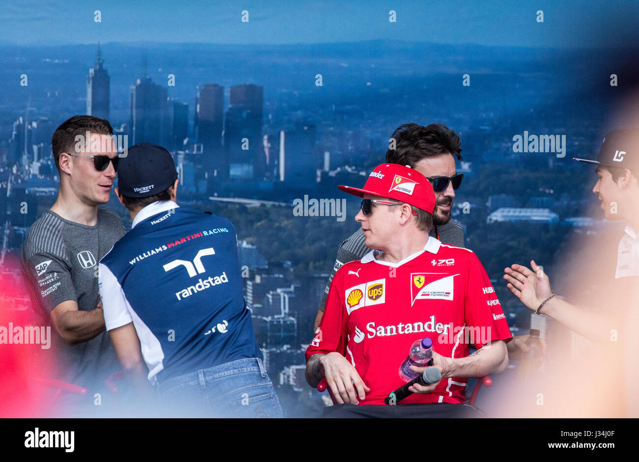 Drivers at the 2017 Australian Formula One Grand Prix - Stock Image