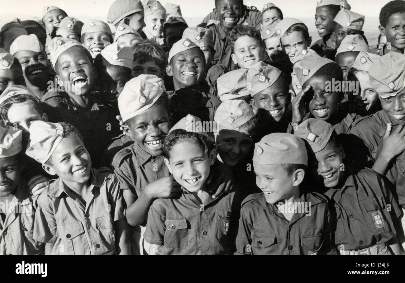 Children with the uniform, Angola 1970 - Stock Image