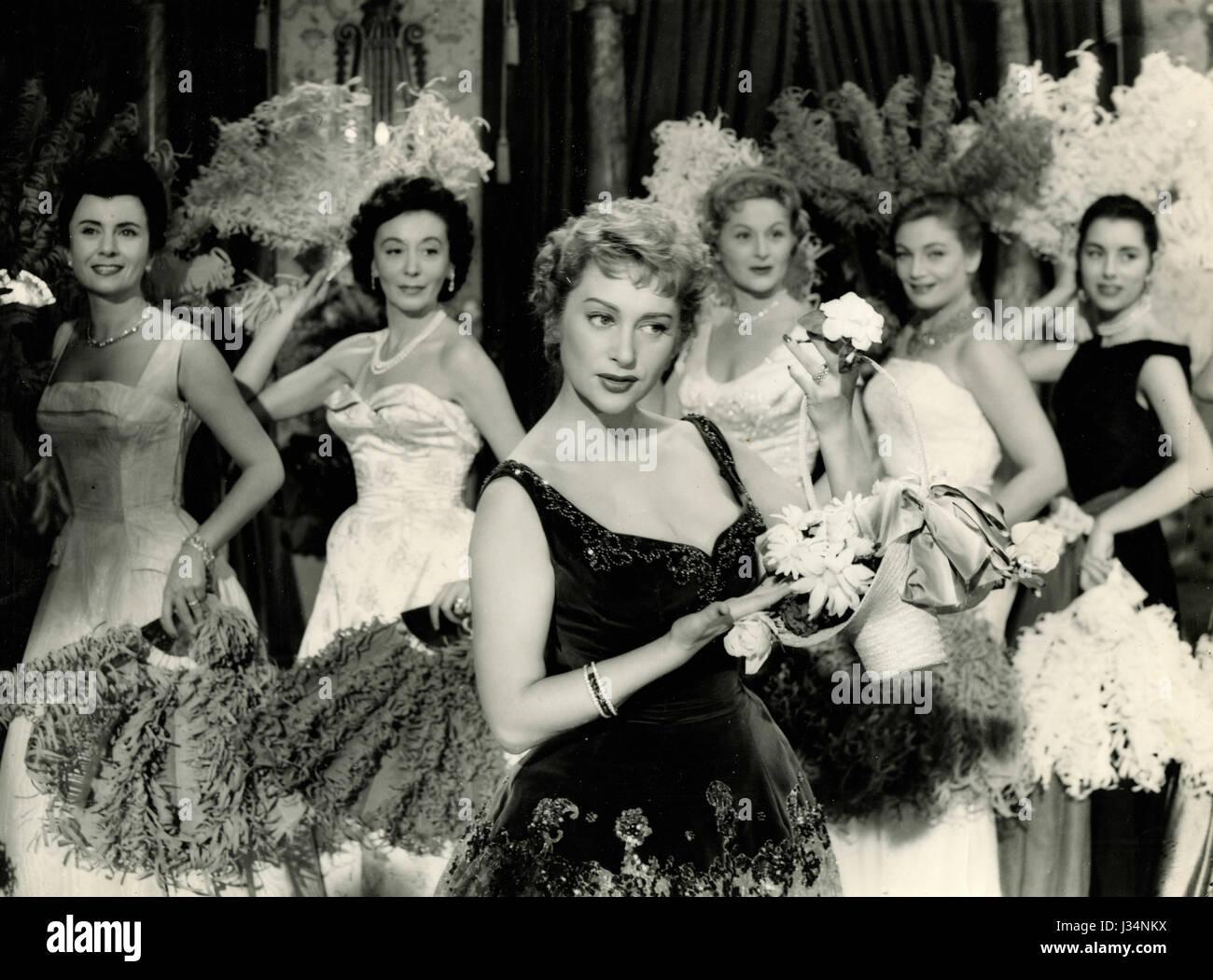 French actress Martine Carol in the movie 'Difendo il mio amore', Italy 1956 - Stock Image